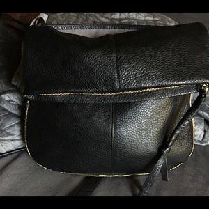 Vince Camuto Soft Leather Shoulder Bag Black NWT